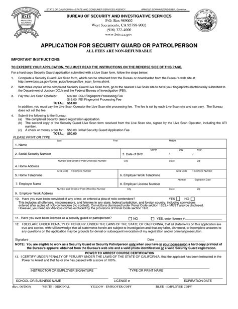 Application Letter Sle Security Guard Application For The Post Of Security Guard 28 Images Security Officer Application Security