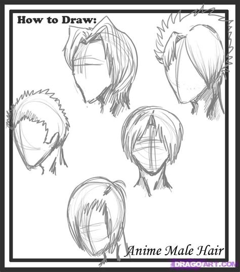 Cool Anime Hairstyles For Guys With Curly Hair by How To Draw Hair Styles Step By Step Anime Hair
