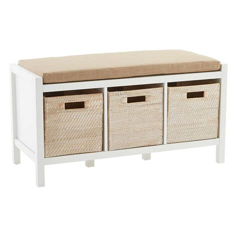 White Storage Bench Storage Bench Division Storage Bench The Container Store