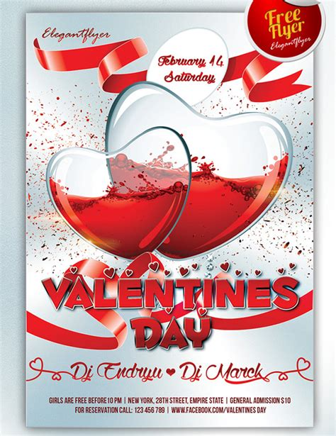 valentines day flyer template free 26 free valentines day flyer templates for