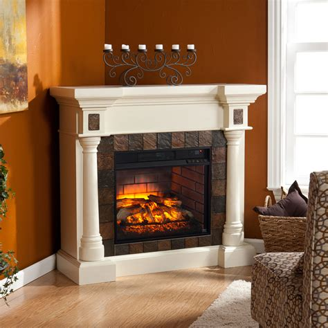 wall or corner infrared electric fireplace in