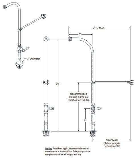 What Does Ips Stand For In Plumbing by Tub Shower Faucets With Supply Lines