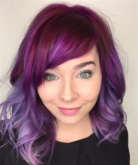 hair purple fulfill your purple dreams with these 50 purple ombre hair