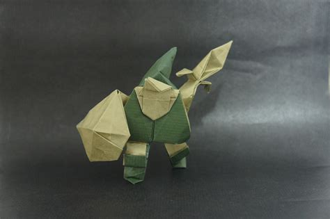 Origami Legend - this week in origami non paper material edition