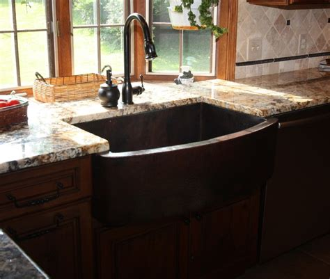 traditional kitchen sinks bowed apron sink traditional kitchen sinks cleveland