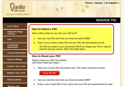 What Is A Vanilla Gift Card - gift card pin number million mile secrets