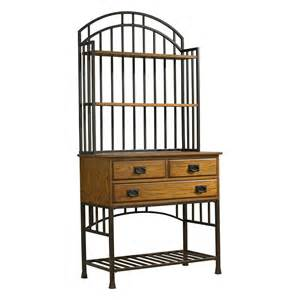 Baker Racks Home Styles Oak Hill Bakers Rack With Hutch Bakers Racks