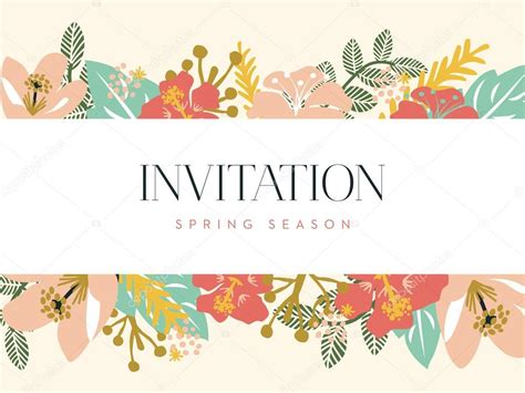 wedding banner illustration invitation card with banner and floral background vector