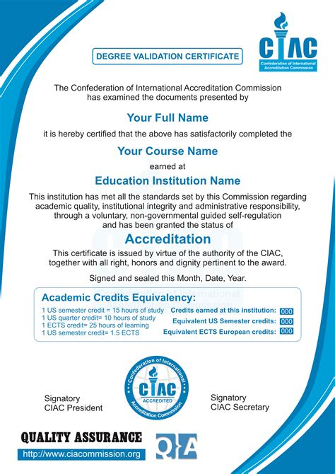 Pebble Mba Intern by Ciac Degree Validation Certificate Is Now Available For