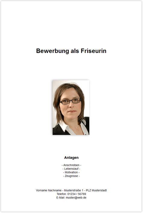 Bewerbung Schreiben Muster Deckblatt Bewerbungsdeckblatt Friseurin Friseur Frisrin