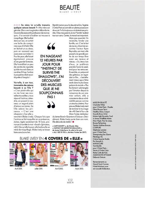 blake lively elle magazine france june 2016 15 jun 2016 blake lively elle magazine france june 2016 issue