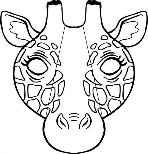 printable giraffe animal masks animal mask template animal templates free premium