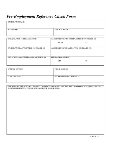 reference form template reference check template 5 free templates in pdf word