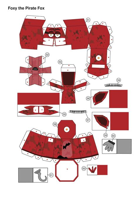 How To Do Papercraft - five nights at freddy s broken foxy papercraft p1 by
