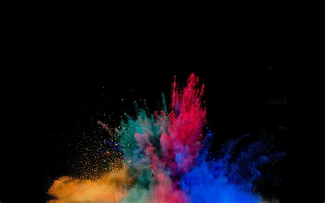 colorful explosion wallpaper colorful powder explosion digital art desktop hd wallpaper