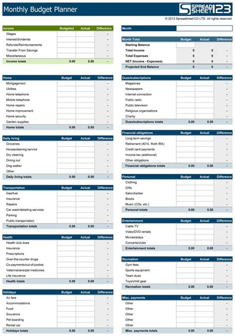 budget sle template 25 best ideas about budget planner on