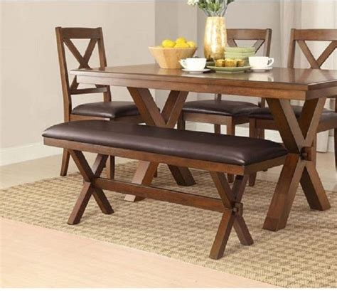 rustic farmhouse dining table with bench rustic dining table farm house kitchen farmhouse trestle 2