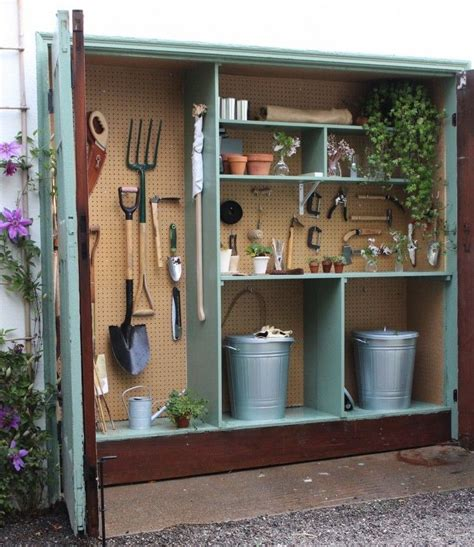 tiny potting shed michelles garage gardenista  yard