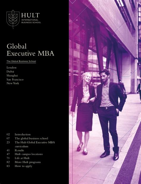 Hult Executive Mba by Hult16 Emba Brochure Digital