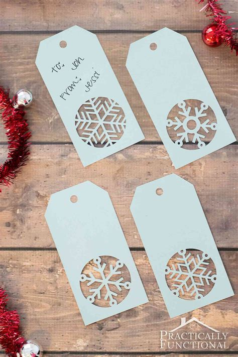 Handcraft Gifts - handmade snowflake gift tags free template