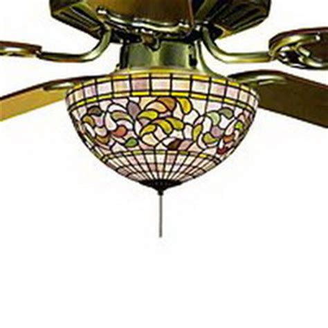 Stained Glass Ceiling Fan Light Kit by Shop Meyda 3 Light Ceiling Fan Light Kit With