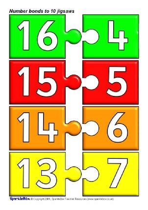 printable number bond cards number bonds to 20 activities and teaching resources