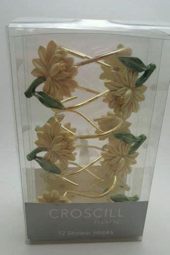 croscill penelope shower curtain croscill roses hydrangeas floral blue pink on yellow 84 x