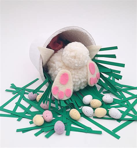 bunny pomeranian mollymoocrafts last minute easter craft for