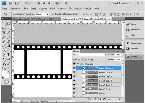 Word Vorlage Erstellen Mit Textfeldern Filmstreifen Mit Spiegelung Und Transformation Erstellen Photoshoptutorials De