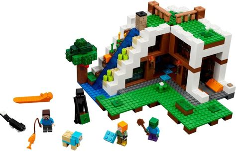 lego waterfall tutorial 21134 1 the waterfall base brickset lego set guide and