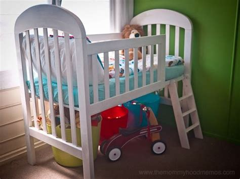 fun toddler bed transform an old crib into a loft toddler bed simple