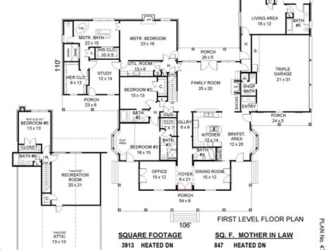 Floor Plans For House With Mother In Law Suite | house plans with mother in law apartment 2017 house