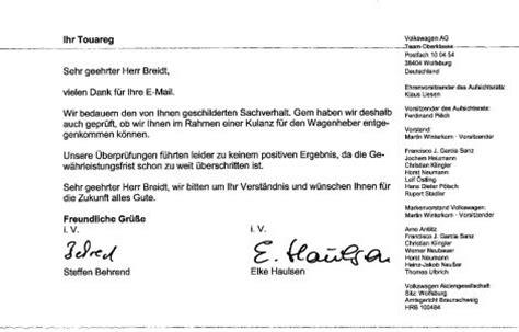 Audi Kulanzantrag by Wagenheber Bricht Zusammen Vw Touareg 2