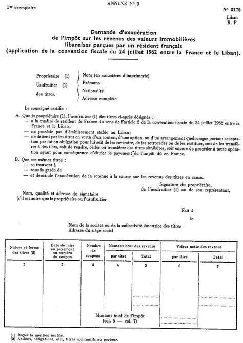 Exemple De Lettre Demande De Franchise Lettre Int Demande D Exon 233 Ration De L Imp 244 T Sur Les Revenus Des Valeurs Immobili 232 Res