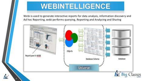 sap bo webi sle reports sap businessobjects web intelligence report