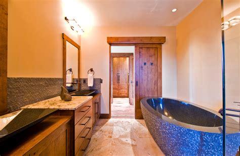 okanagan log home rustic bathroom calgary