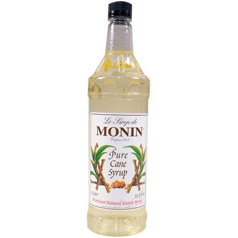 monin m fs082f 04 1 l pure cane liquid sugar sweetener syrup