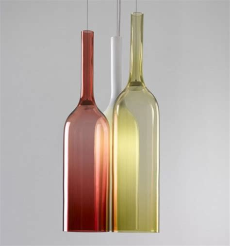 kitchen glass light with bottles
