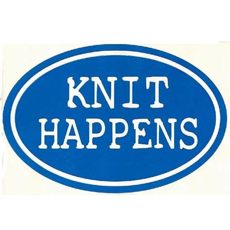 knit happens knit happens knitting bumper sticker decal for by