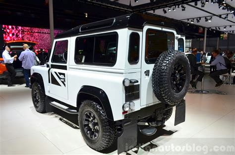 land rover defender black land rover defender black pack paris 2014 live