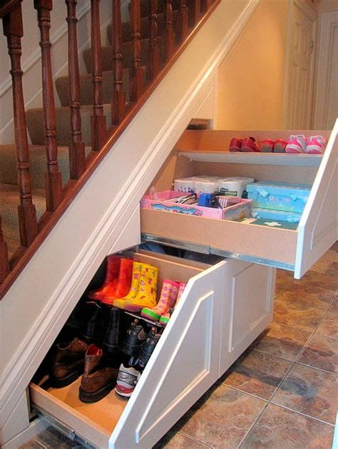 shoe storage stairs stairs storage ideas for small homes