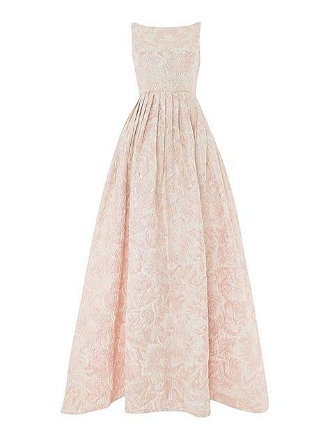 Dress Jacquard Gown 9 papell floral fit and flare jacquard maxi dress in pink lyst