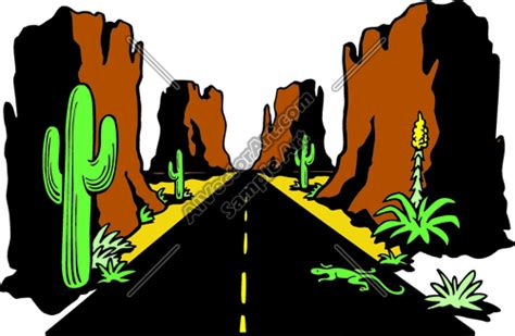 Southwest 39 Sale by Arizona Hightway Desert Road Landscape Clipart And