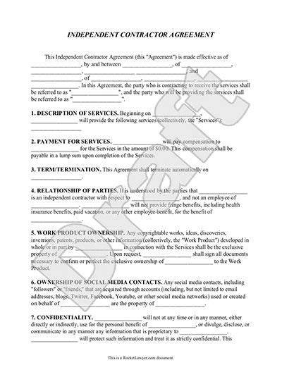 1099 contractor agreement template independent contractor agreement form template with