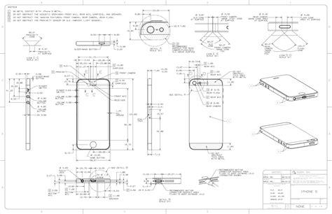 blue print size iphone 5 diagram