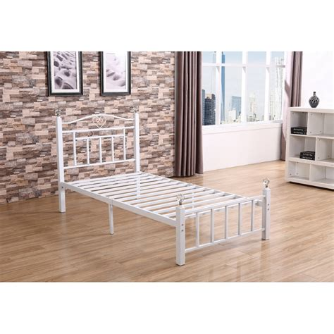 white metal bed frame full white metal bed frame amazoncom white antique vintage