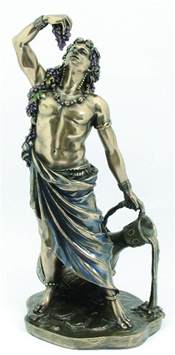 statues of gods dionysus god of wine statue