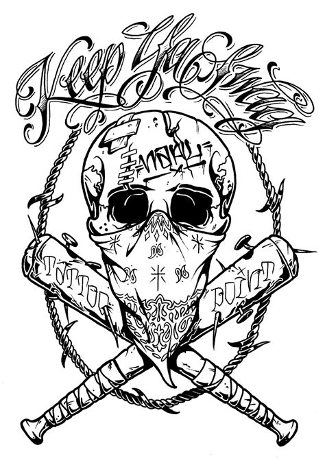 crazy tattoo designs pics for gt skull with bandana