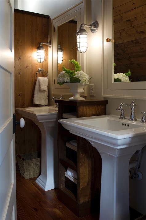 pedestal sinks  traditional bathroom hgtv