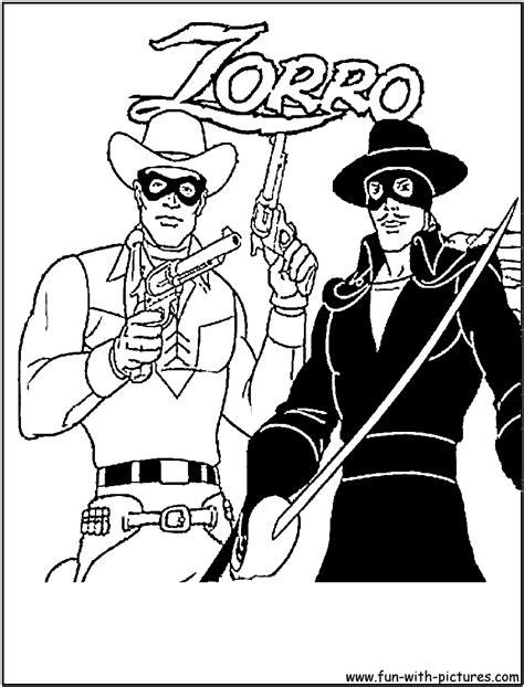 loneranger zorro coloring page